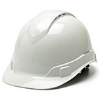 RIDGELINE HARD HAT - WHITE CAP STYLE 4-POINT VENTED RATCHET