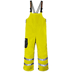 GRUNDENS WEATHER WATCH BIB RAINGEAR ANSI HI-VISIBILITY TAPE