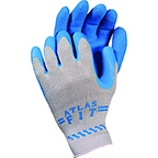 SHOWA ATLAS FIT 300 BLUE RUBBER COATED GLOVES