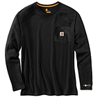 CARHARTT FORCE® COTTON DELMONT LONG-SLEEVE T-SHIRT - BLACK
