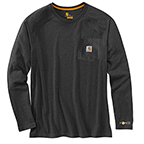CARHARTT FORCE® COTTON DELMONT LONG-SLEEVE T-SHIRT - CARBON HEATHER