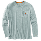 CARHARTT FORCE® COTTON DELMONT LONG-SLEEVE T-SHIRT - HEATHER GRAY