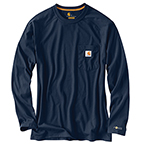 CARHARTT FORCE® COTTON DELMONT LONG-SLEEVE T-SHIRT - MOSS