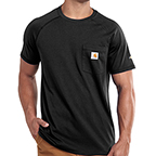 CARHARTT FORCE® COTTON DELMONT SHORT-SLEEVE T-SHIRT - BLACK