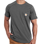 CARHARTT FORCE® COTTON DELMONT SHORT-SLEEVE T-SHIRT - CARBON HEATHER