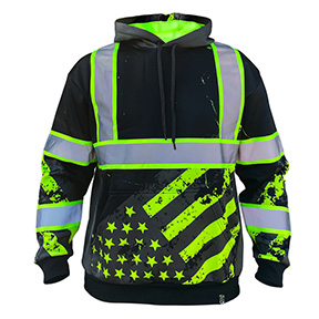 AMERICAN GRIT STEALTH HOODIE - 360 ENHACED VISIBILITY