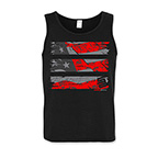 OLD GLORY STEALTH TANK TOP - RED/BLACK