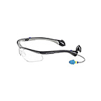 SOUNDSHIELD CLASSIC SAFETY GLASSES W/25NRR EARPLUGS - BLACK