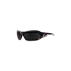 EDGE EYEWEAR BRAZEAU PATRIOT SAFETY GLASSES - BLACK/SMOKE