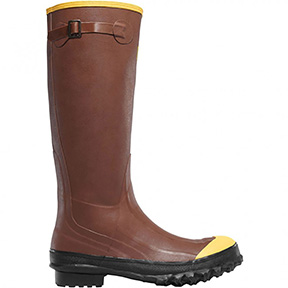 "16""H MEN'S RUBBER BOOTS STEEL TOE - RUST"