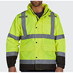 UTILITY PRO GRADE HIGH VISIBILITY WATERPROOF RAIN JACKET WITH TEFLON FABRIC