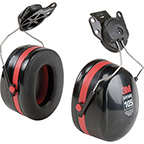 3M™ PELTOR OPTIME™ 105 EARMUFFS, HARD HAT ATTACHED, NRR 18 DB