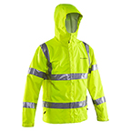 GRUNDENS WEATHER WATCH JACKET RAINGEAR ANSI HI-VISIBILITY TAPE