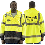 HIGH VISIBILITY WATERPROOF PARKA WITH LINER OPTIONS, ANSI 3, R