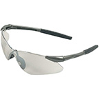 SAFETY GLASSES W/GUN METAL GRAY FRAME AND SCRATCH-RESISTANT LENS