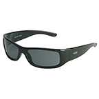 MOON DAWG™ SAFETY GLASSES WITH BLACK FRAME AND GRAY ANTI-FOG LENS