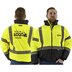 HIGH VISIBILITY WATERPROOF JACKET WITH QUILTED LINER, ANSI 3, R