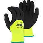 EMPEROR PENGUIN WINTER LINED NYLON GLOVE WITH 3/4 SANDY LATEX PALM