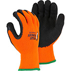 POLAR PENGUIN WINTER LINED NAPPED TERRY GLOVE WITH FOAM LATEX DIPPED PALM