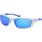 PUNISHER SAFETY GLASSES WITH BLUE MIRROR LENS